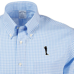 Bo Sil Brooks Brothers Madison Fit Gingham - LT Blue