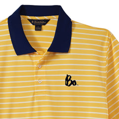 Bo Sig Brooks Brothers Striped Polo - White/Yellow/Navy
