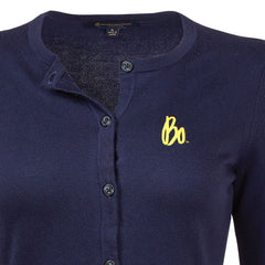 Bo Sig Brooks Brothers Wms Supima Cotton Cardigan - Navy