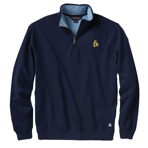 Bo Sig Brooks Brothers French Terry Half Zip - Navy