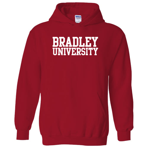 Bradley University Braves Basic Block Heavy Blend Hoodie - Red