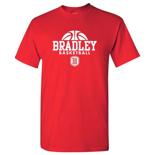 Bradley University Braves Basketball Hype Basic Cotton Short Sleeve T Shirt - Red