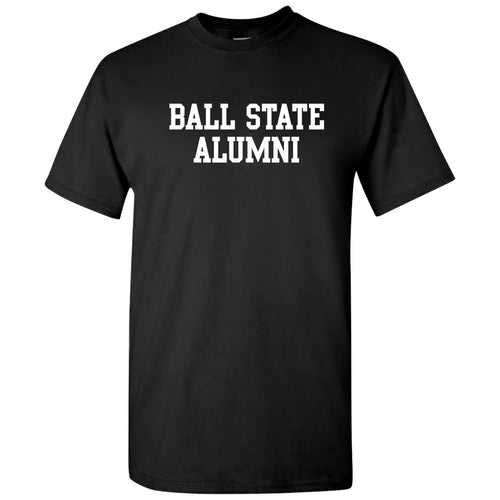 Ball State University Cardinals Basic Block Alumni Short Sleeve T Shirt - Black