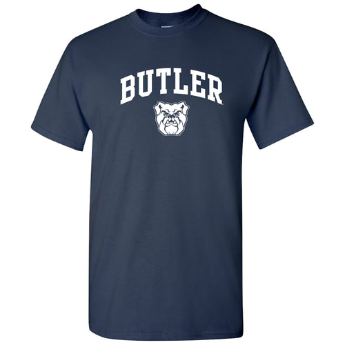 Butler University Bulldogs Arch Logo Short Sleeve T Shirt - Navy
