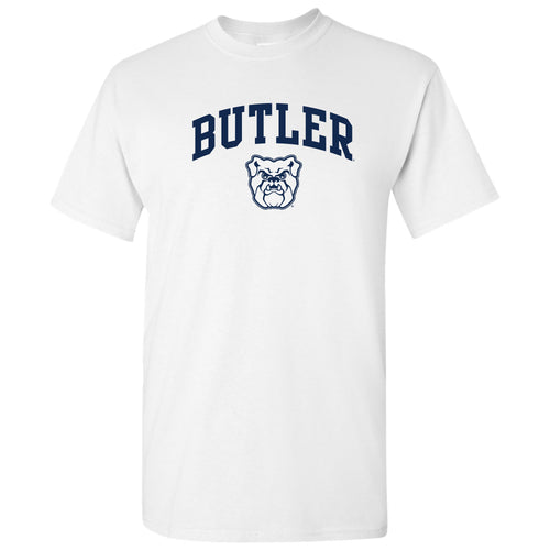 Butler University Bulldogs Arch Logo Short Sleeve T Shirt - White