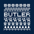 Butler University Bulldogs Ugly Holiday Sweater Short Sleeve T Shirt - Navy