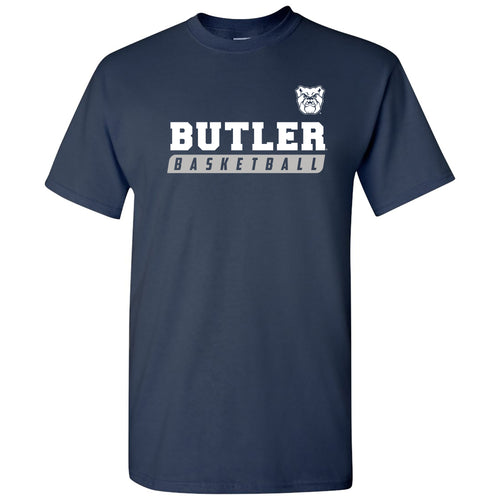 Butler University Bulldogs Basketball Slant Short Sleeve T Shirt - Navy