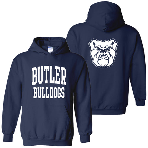 Butler University Bulldogs Front Back Print Hoodie - Navy