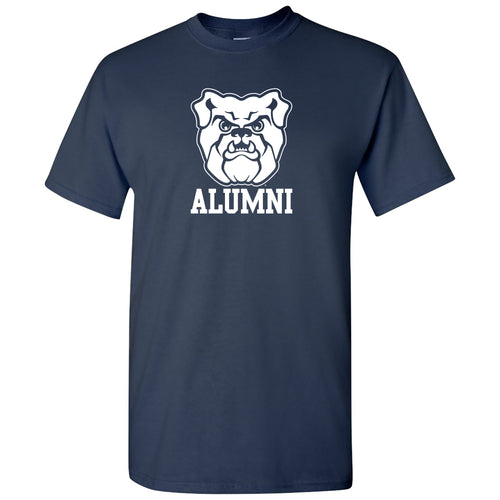 Butler University Bulldog Logo Alumni Short Sleeve T Shirt - Navy