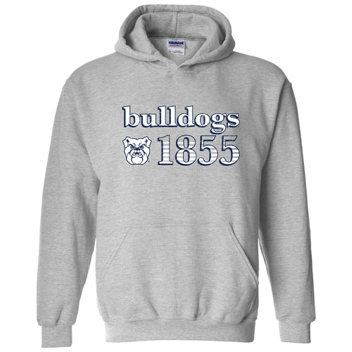 Butler University Bulldogs Throwback Year Stripe Heavy Blend Hoodie - Sport Grey