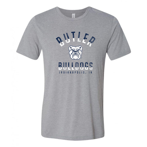 Division Arch Butler Bulldogs Canvas Triblend Short Sleeve T Shirt - Athletic Grey
