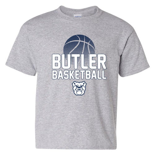 Butler University Bulldogs Basketball Flux Basic Cotton Youth Short Sleeve T Shirt - Sport Grey