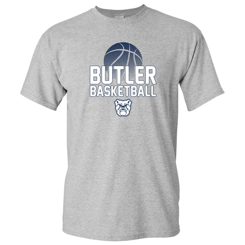 Butler University Bulldogs Basketball Flux Basic Cotton Short Sleeve T Shirt - Sport Grey