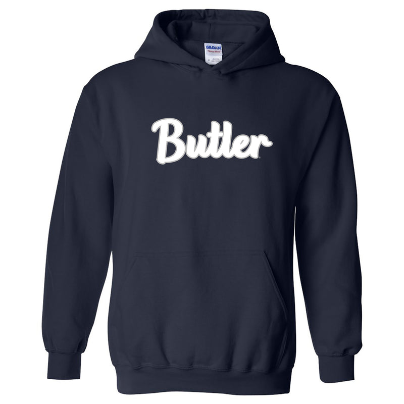 Butler University Bulldogs Basic Script Heavy Blend Hoodie - Navy