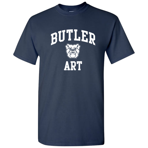 Butler University Bulldogs Arch Logo Art Short Sleeve T Shirt - Navy