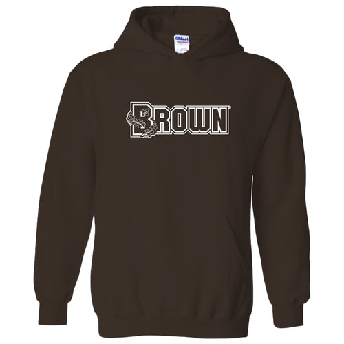 Brown University Bears Basic Block Hoodie - Dark Chocolate