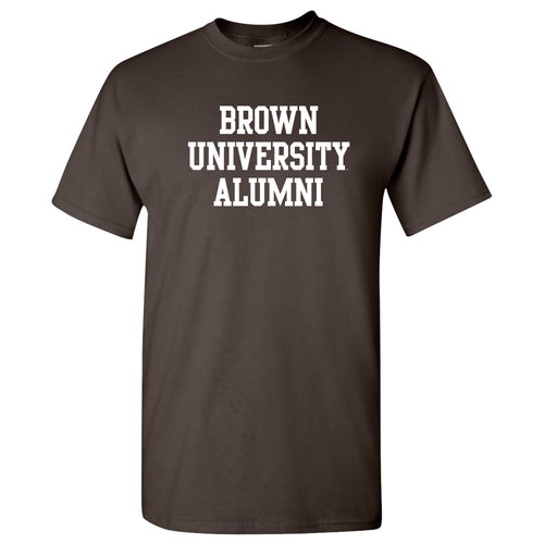 Brown University Bears Basic Block Alumni Short Sleeve T Shirt - Dark Chocolate