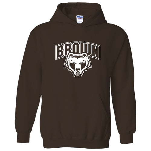 Brown University Bears Arch Logo Hoodie - Dark Chocolate