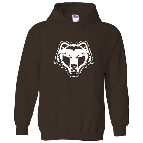 Brown University Bears Primary Logo Hoodie - Dark Chocolate