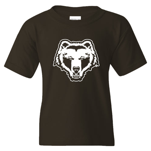 Brown University Bears Primary Logo Youth Short Sleeve T Shirt - Dark Chocolate