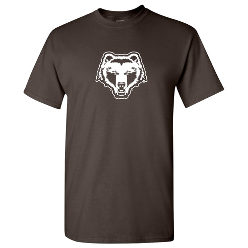 Brown University Bears Primary Logo Short Sleeve T Shirt - Dark Chocolate