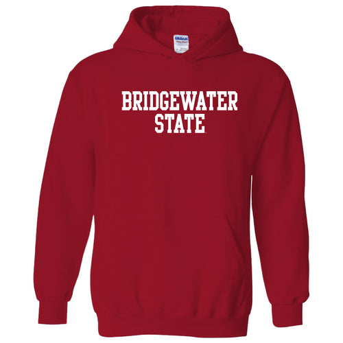 Bridgewater State University Bears Basic Block Heavy Blend Hoodie - Red