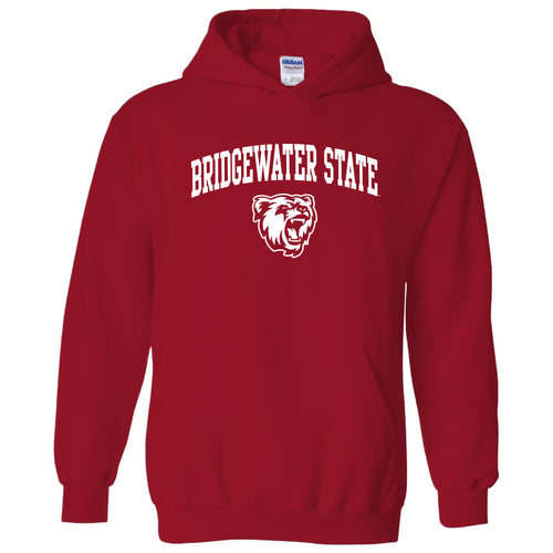 Bridgewater State University Bears Arch Logo Heavy Blend Hoodie - Red