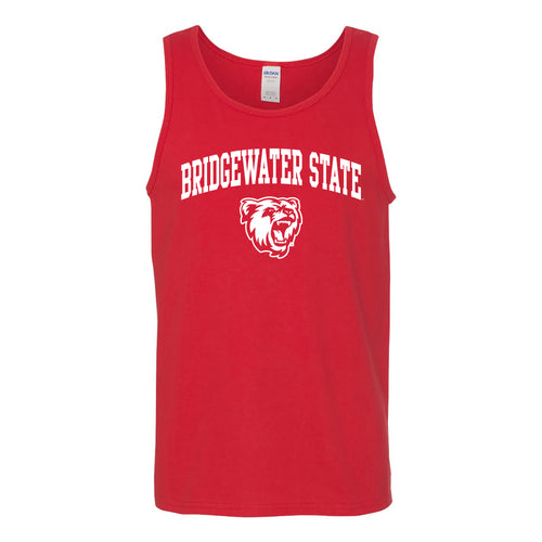 Bridgewater State University Bears Arch Logo Tank Top - Red