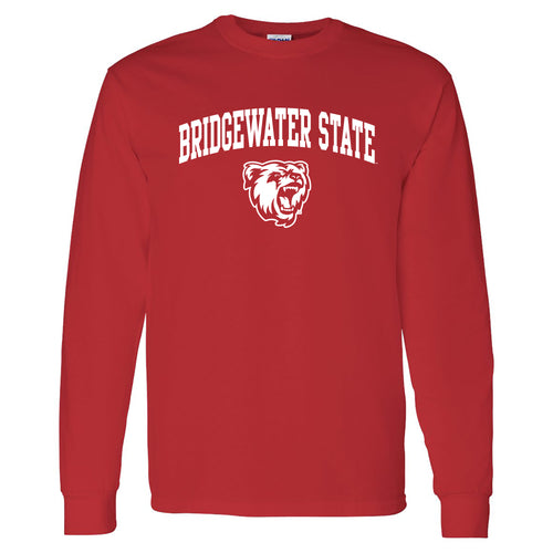 Bridgewater State University Bears Arch Logo Long Sleeve T-Shirt - Red