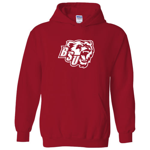 Bridgewater State University Bears Primary Logo Heavy Blend Hoodie - Red