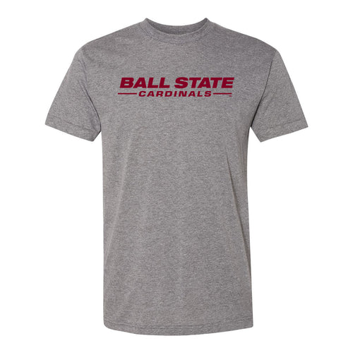 Ball State Word Mark T Shirt - Athletic Grey