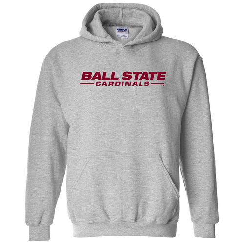 Wordmark Ball State Heavy Blend Hoodie - Sport Grey
