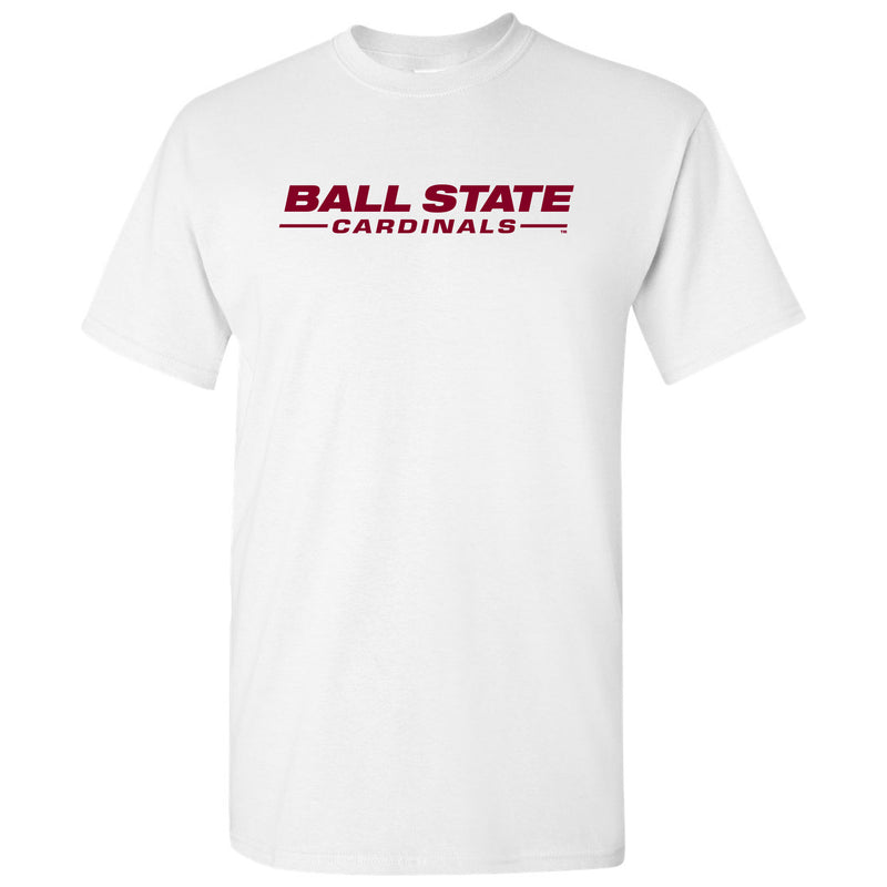 Ball State Wordmark T Shirt - White
