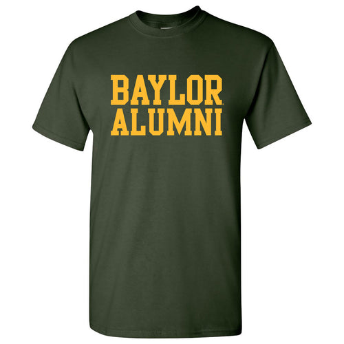 Baylor University Bears Basic Block Alumni Short Sleeve T Shirt - Forest Green