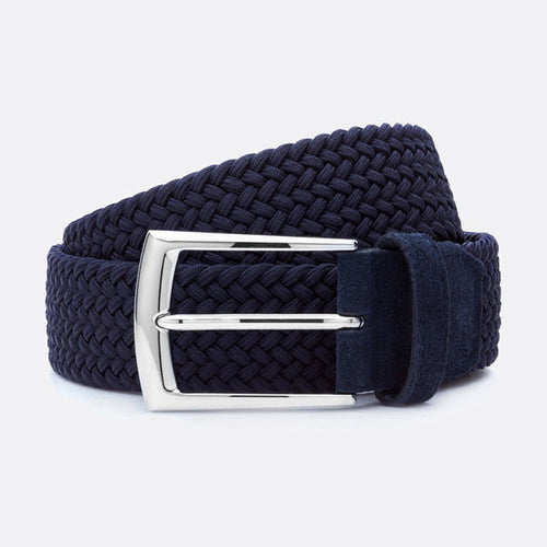 Beltology Triple Bend Belt - Navy