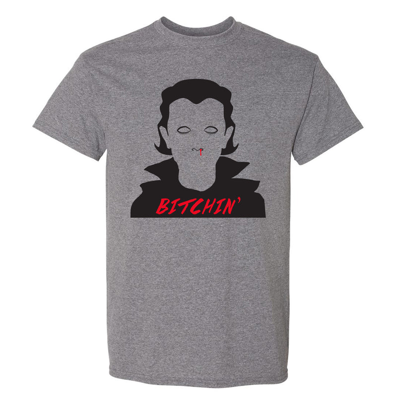 Bitchin - Funny Stranger Of Things Eleven Vampire Goth Graphic T Shirt - Graphite Heather