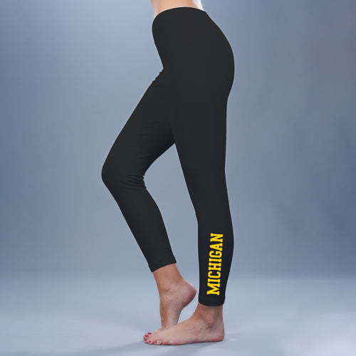 Block Michigan Leggings - Black