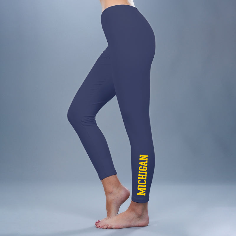 Block Michigan Leggings - Navy