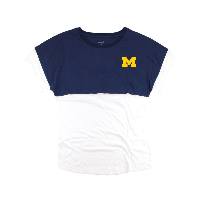 Michigan SS Youth Pom Jersey - Navy/White