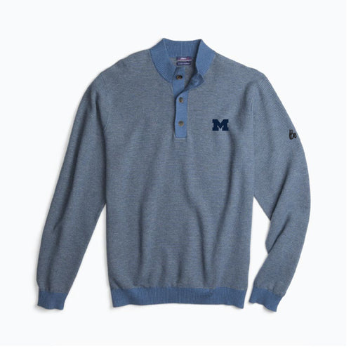 Block M Bo Sig Johnnie-O Clayton Henley Sweater - Mariner
