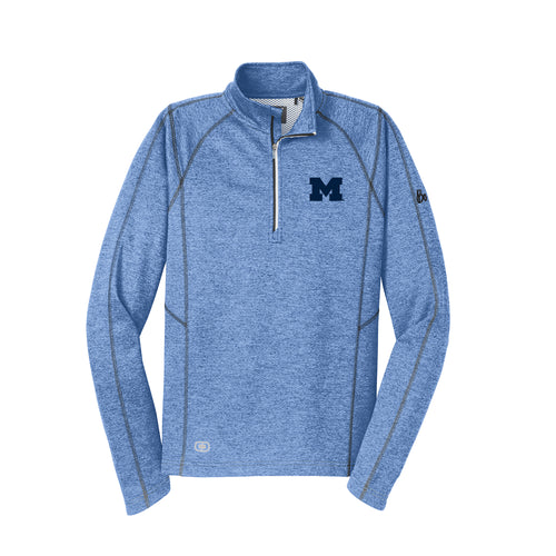 Block M Bo Sig OGIO Endurance Pursuit 1/4 Zip - Electric Blue