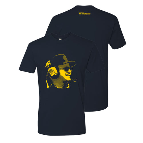 Bo Schembechler Headset 2010 Next Level Premium Short Sleeve Tee - Midnight Navy