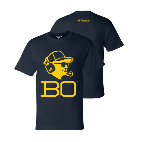 Bo Schembechler Headset Champion T-Shirt - Navy