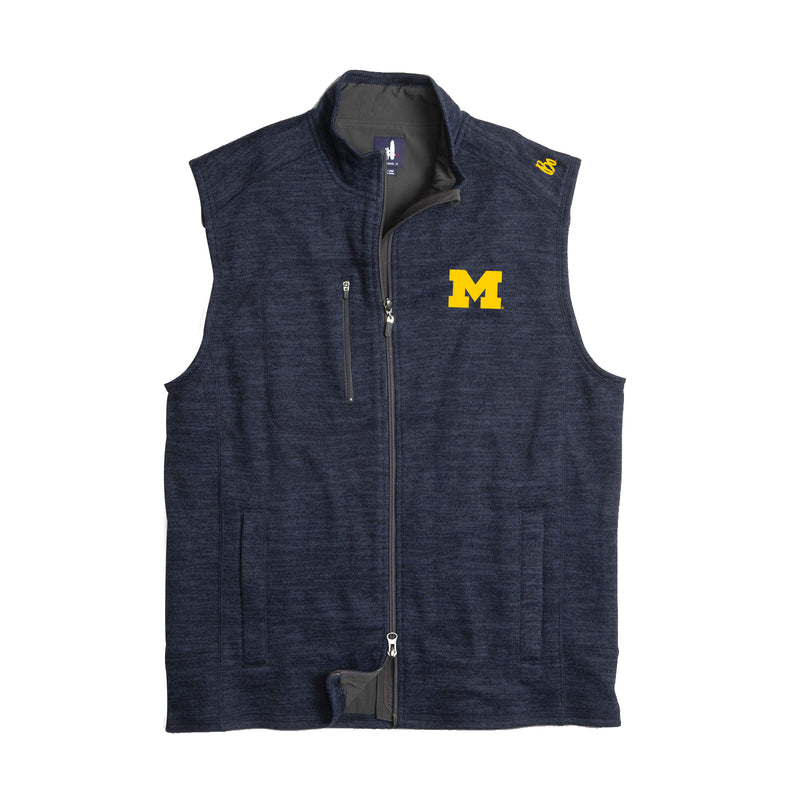 Bo Schembechler Signature University of Michigan Block M Johnnie O Tahoe Vest - Admiral