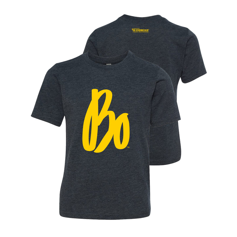 Bo Sig Next Level Youth Triblend T-Shirt - Vintage Navy