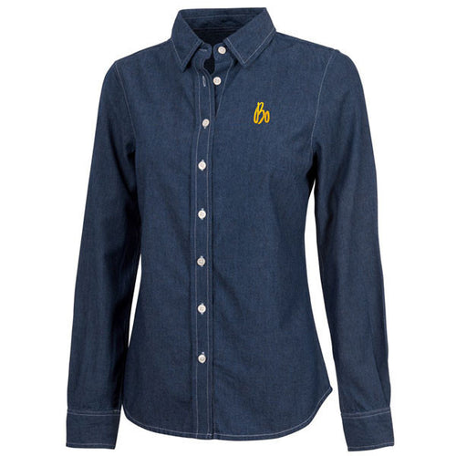 Bo Sig Charles River Wms Straight Collar Shirt - Chambray