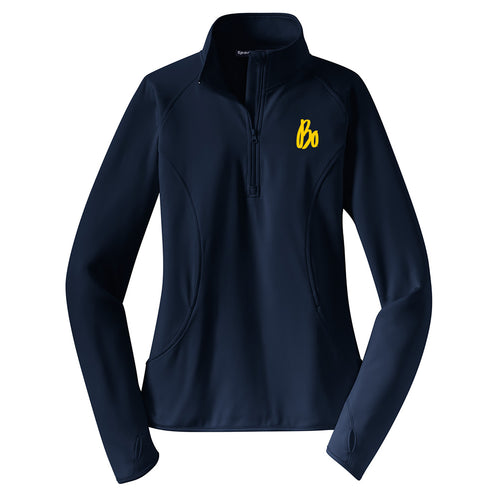 Bo Sig Sport-Wick® Stretch Half-Zip Pullover - Ladies- True Navy