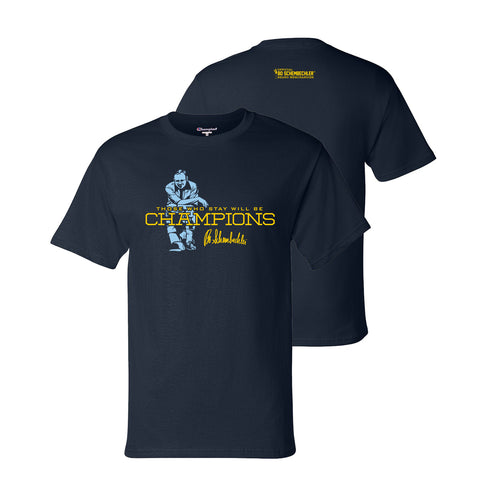 Bo Schembechler Speech The Team The Team The Team Champion Tee - Navy