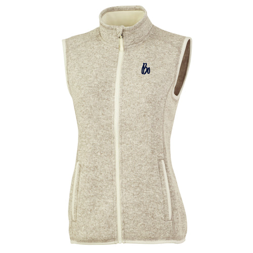 Bo Schembechler Signature Women's Heathered Fleece Vest - Oatmeal Heather