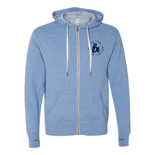 Bo TTT Circle LC French Terry Zip Hoodie - Sky Heather